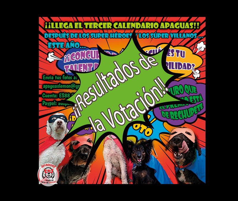 RESULTADOS VOTACIÓN – Concurso Calendario APAGUAS